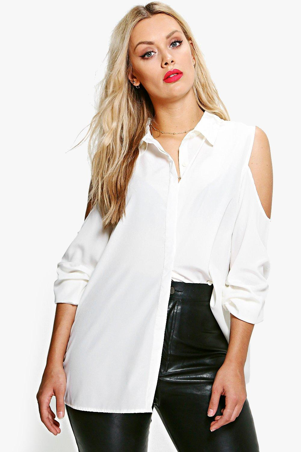 Plus Esther Cold Shoulder Shirt