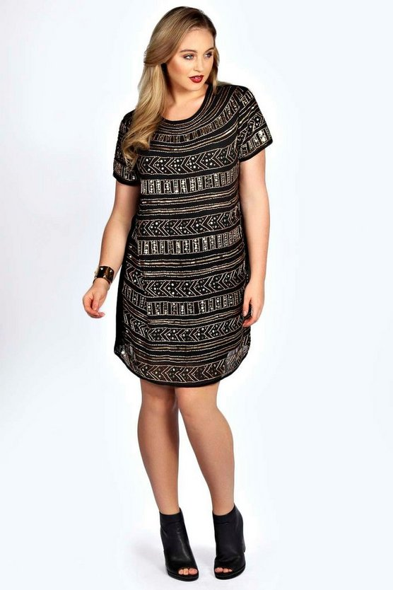 Plus Jemma Embellished Shift Dress