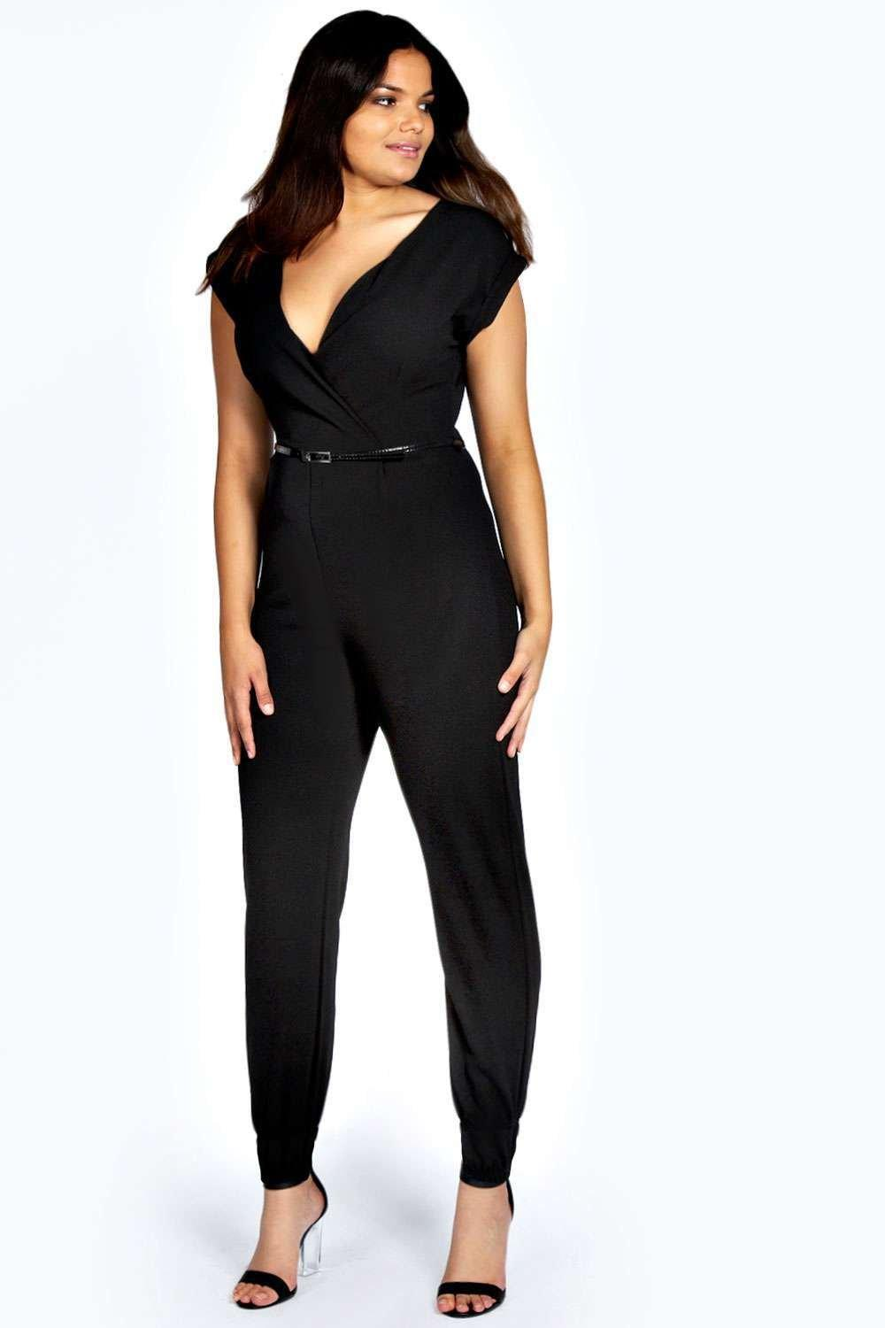 Plus Erin Wrap Front Jumpsuit