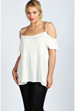 Plus Amy Frill Sleeve Swing Top