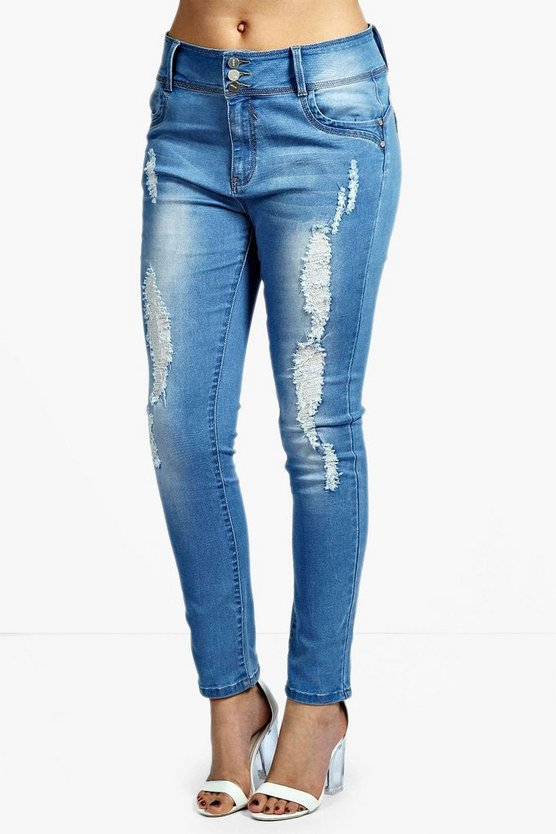 Plus High Waisted Stretch Skinny Jeans