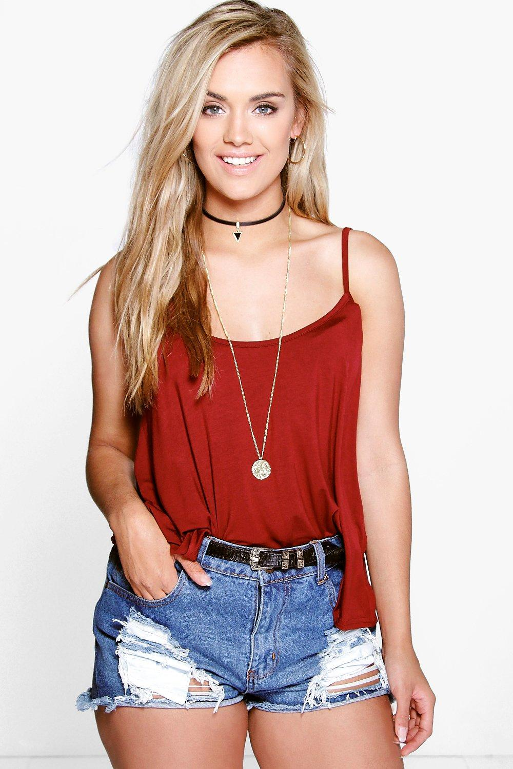 Basic Swing Cami Vest wine