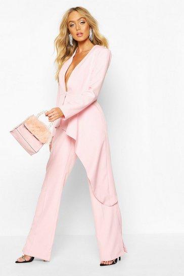 Pink Premium Asymetric Blazer