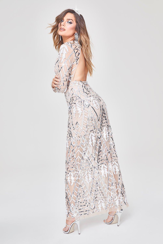 Купить Dresses, Макси-платье Premium с вырезом на спине и ручной декоративной отделкой, boohoo