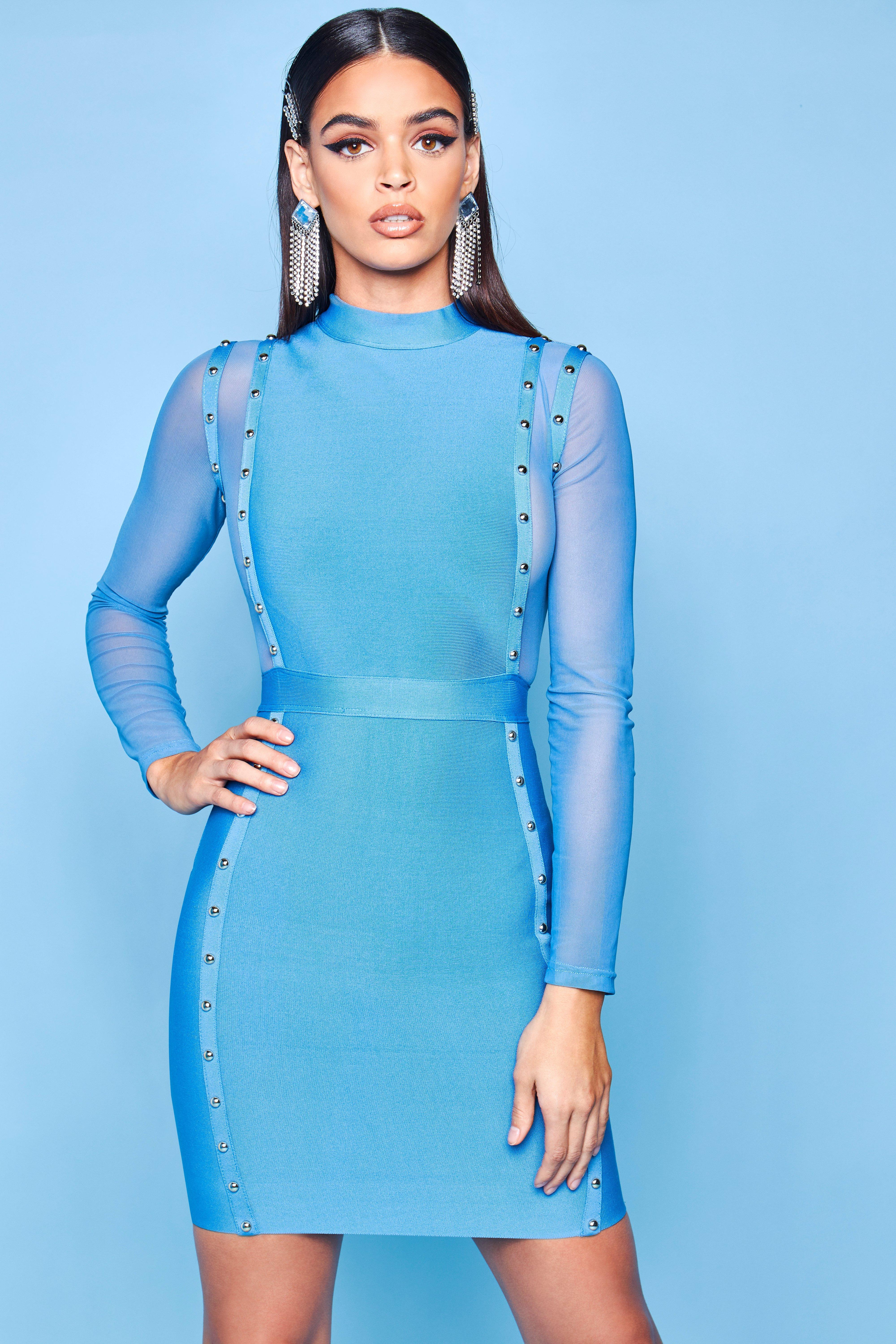 Купить Dresses, Premium High Neck Bandage Bodycon, boohoo