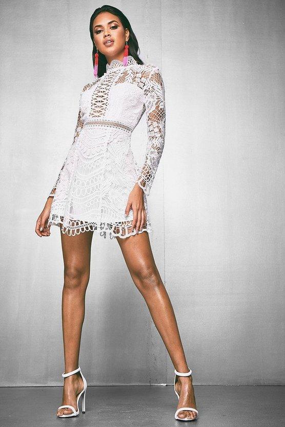 Premium Nancy Front Lace Up Open Back dress
