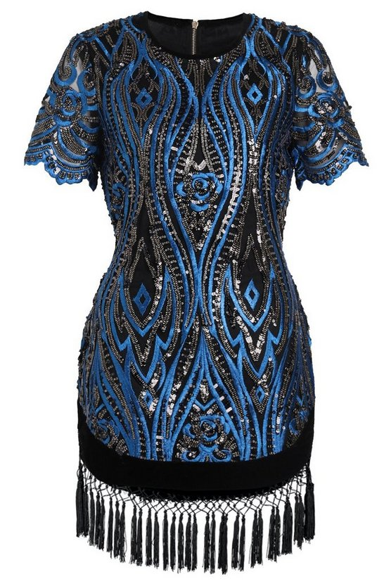 Premium Freya Sequin Tassle Hem Mini Dress