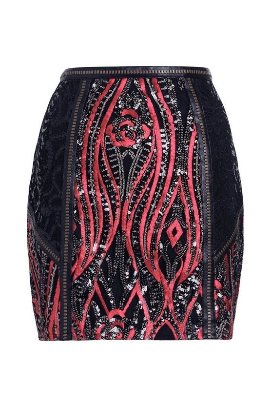 Premium Millie Lace And Sequin Skirt