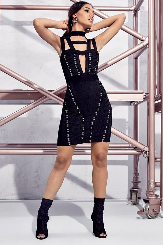Premium Petite Tia Bandage Bodycon Dress