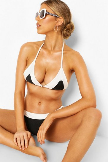 Black Contrast Tie Side Bikini