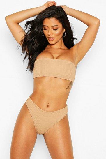 Stone Mix & Match Crinkle Bandeau Bikini Top