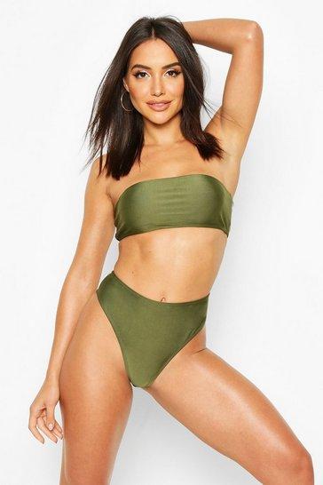 Khaki Mix & Match Bandeau Bikini Top