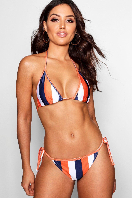 Купить Bikini Tops, Топ бикини с треугольными чашечками в полоску из коллекции Выбирай и комбинируй - Kos , boohoo