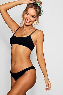 Antalya Ribbed Crop Bikini