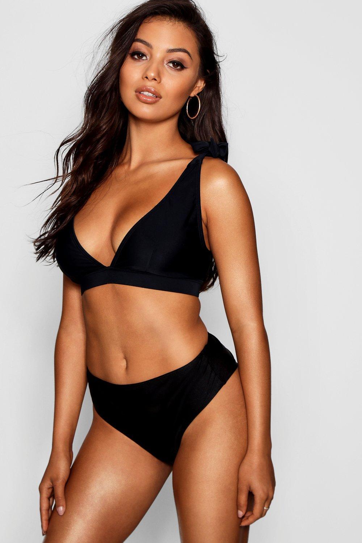 Купить Bikini Tops, Топ бикини Tahiti для пышной груди с завязками с треугольными чашечками, boohoo