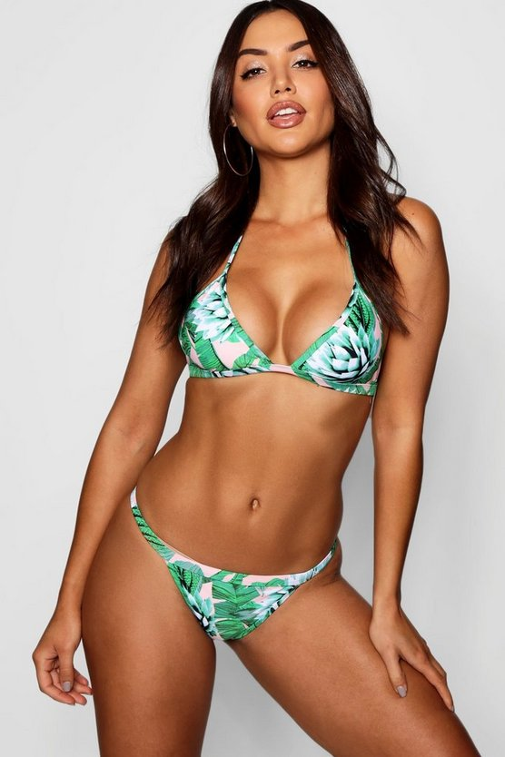 Madeira Tropical Leaf Triangle Bikini
