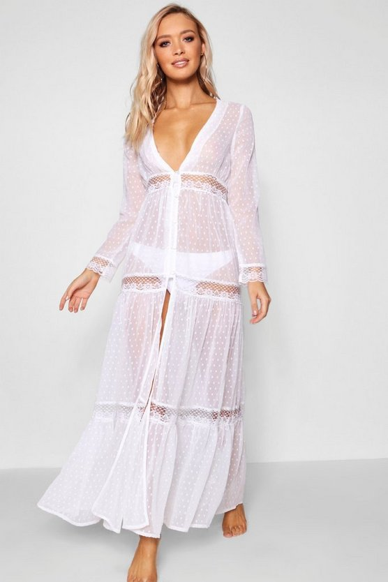 Ava Boho Lace Beach Dress