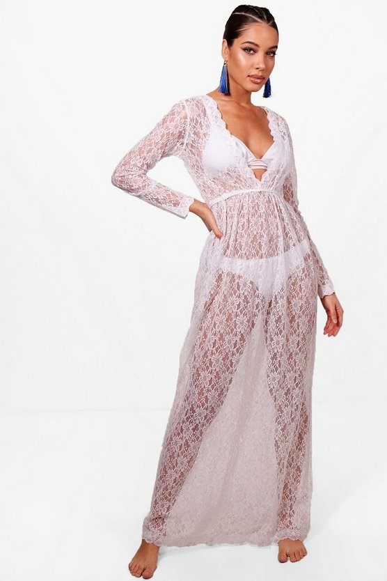 Lottie Lace Beach Maxi Kaftan
