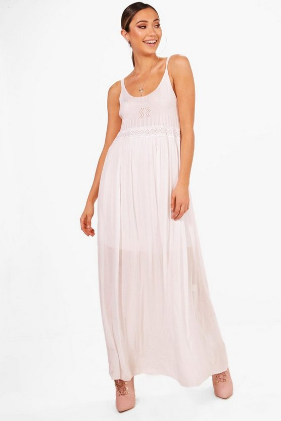 Elise Crochet Top Beach Maxi Dress