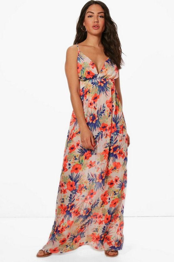 Maddison Hawaiin Floral Maxi Beach Dress