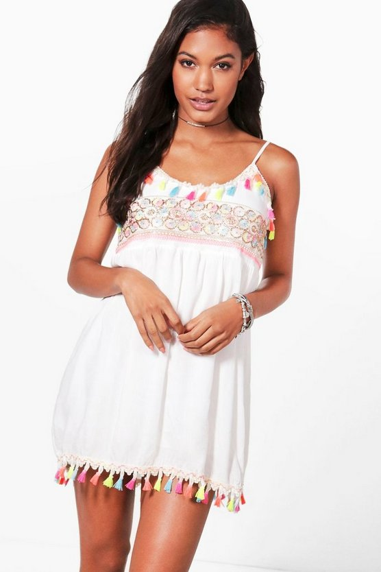 Sophia Tassel Trim Sundress