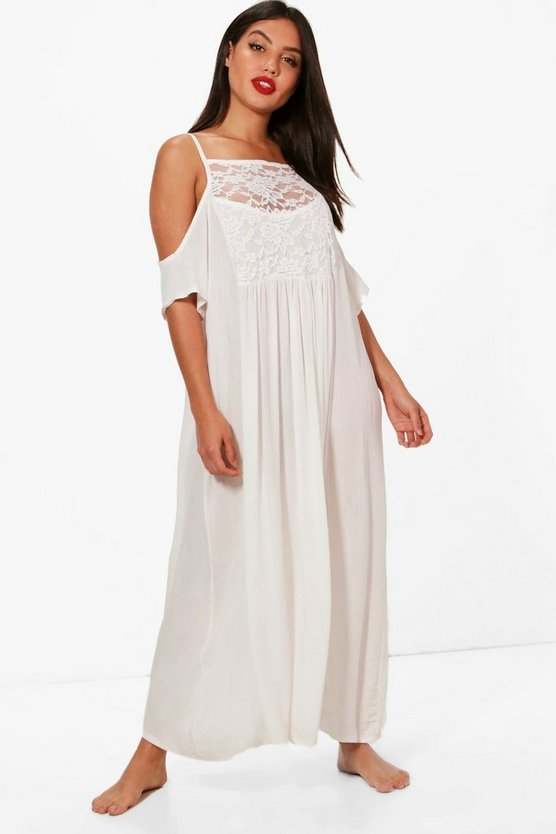 Naoimi Embellished Beach Maxi Dress