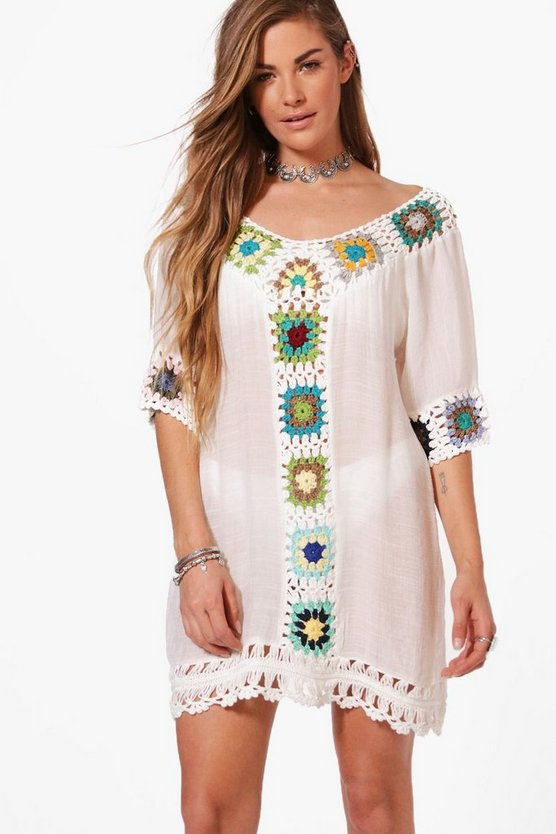 Alice Crochet Detail Beach Kaftan