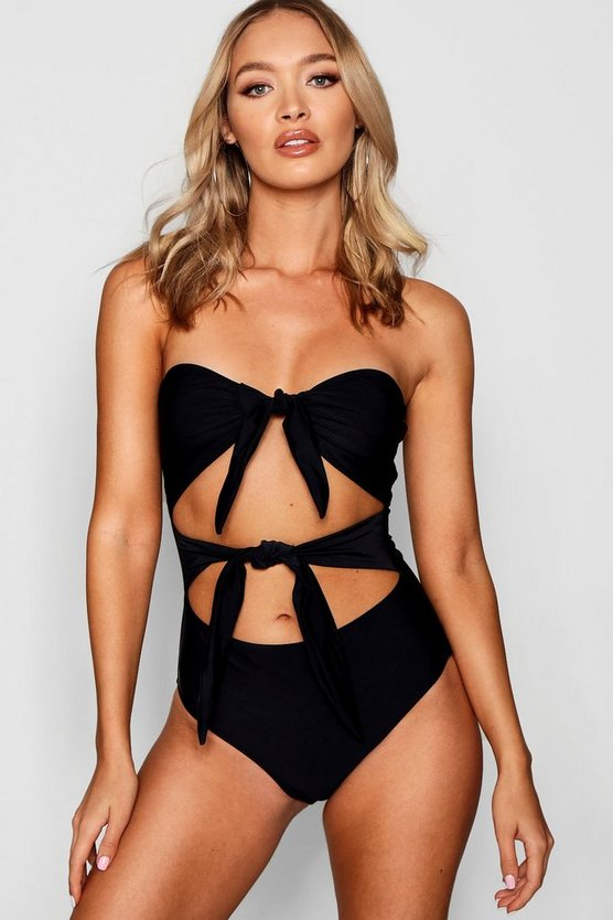 Tampa Bow Tie Cut Out Swimsuit