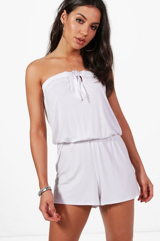 Holly Tie Up Beach Playsuit