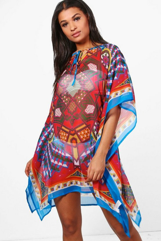 Summer Geometric Beach Kaftan