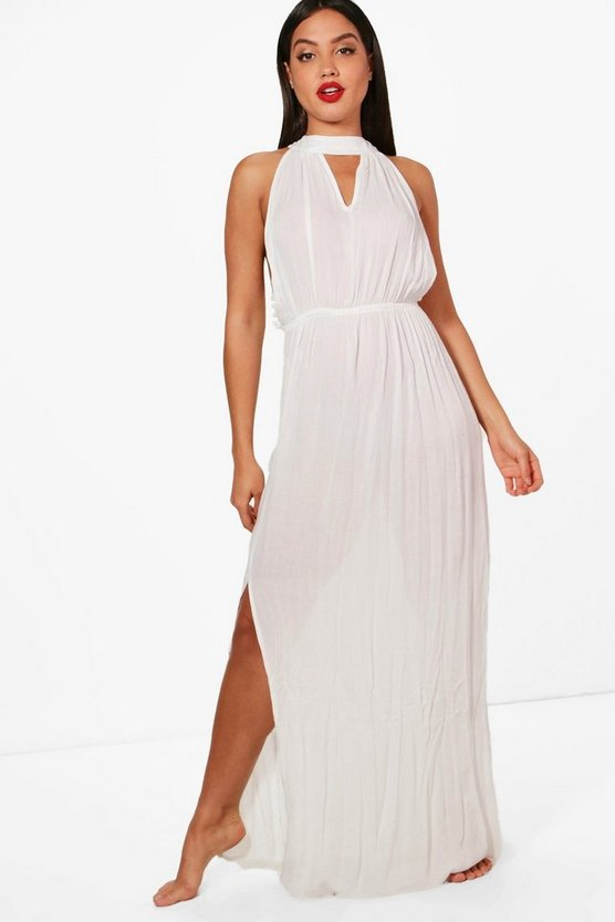Maddison Pom Pom Choker Maxi Dress