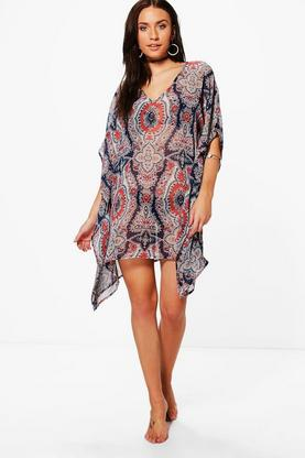 Alice All Over Printed Beach Kaftan