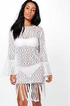 Jasmine Lace Beach Cover Up Kaftan