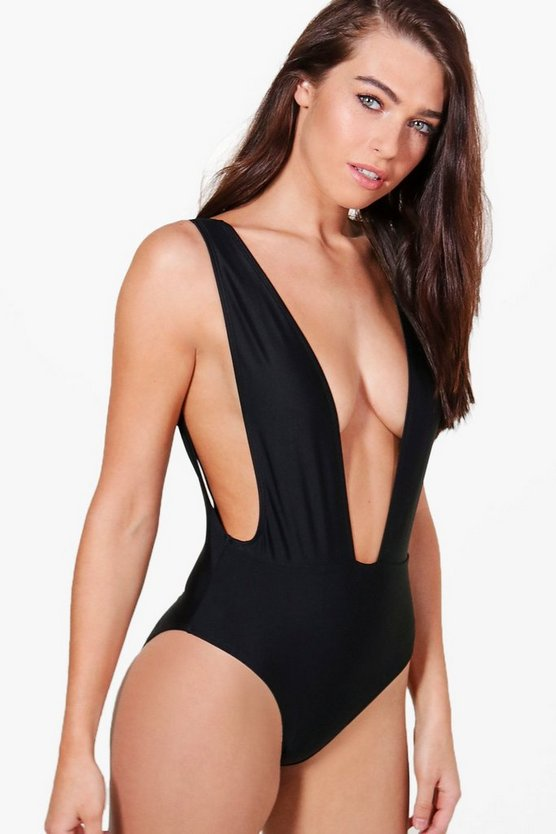 Dubai Plunge Drop Side Swimsuit