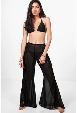 Sorrento Boutique Lace Flared Beach Trouser