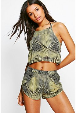 Mia Bumble Ladder Side Vest Beach Co-Ord Set