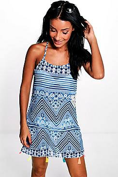 Rosie Mosaic Tassel Beach Dress