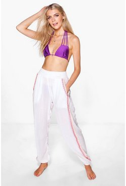 Megan Embroidered Beach Trousers