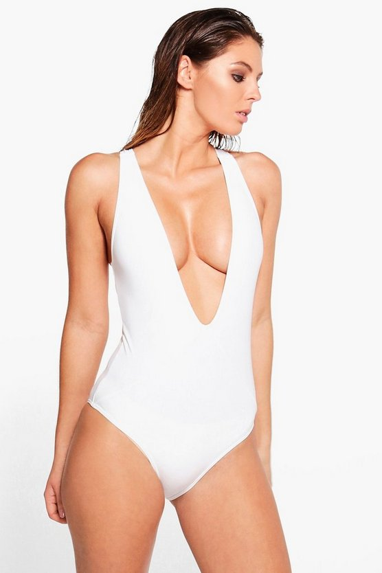 Plunge Cross Back Swimsuit