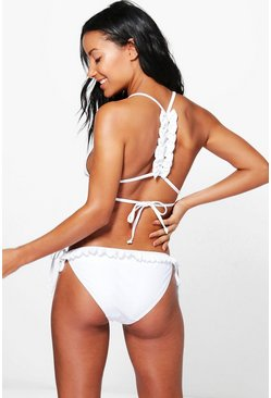 Bridal Bow Back Triangle Bikini