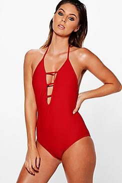 Marbella Criss Cross Strappy Swimsuit