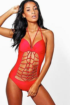 Rome Strappy Cut Out Swimsuit
