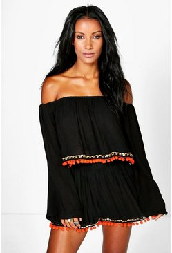 Maria Pom Pom Trim Beach Top