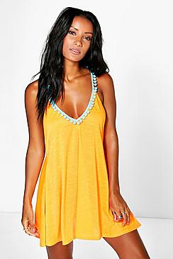 Bethany Pom Pom Beach Dress