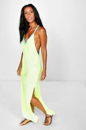 Faith Pom Pom Maxi Beach Dress