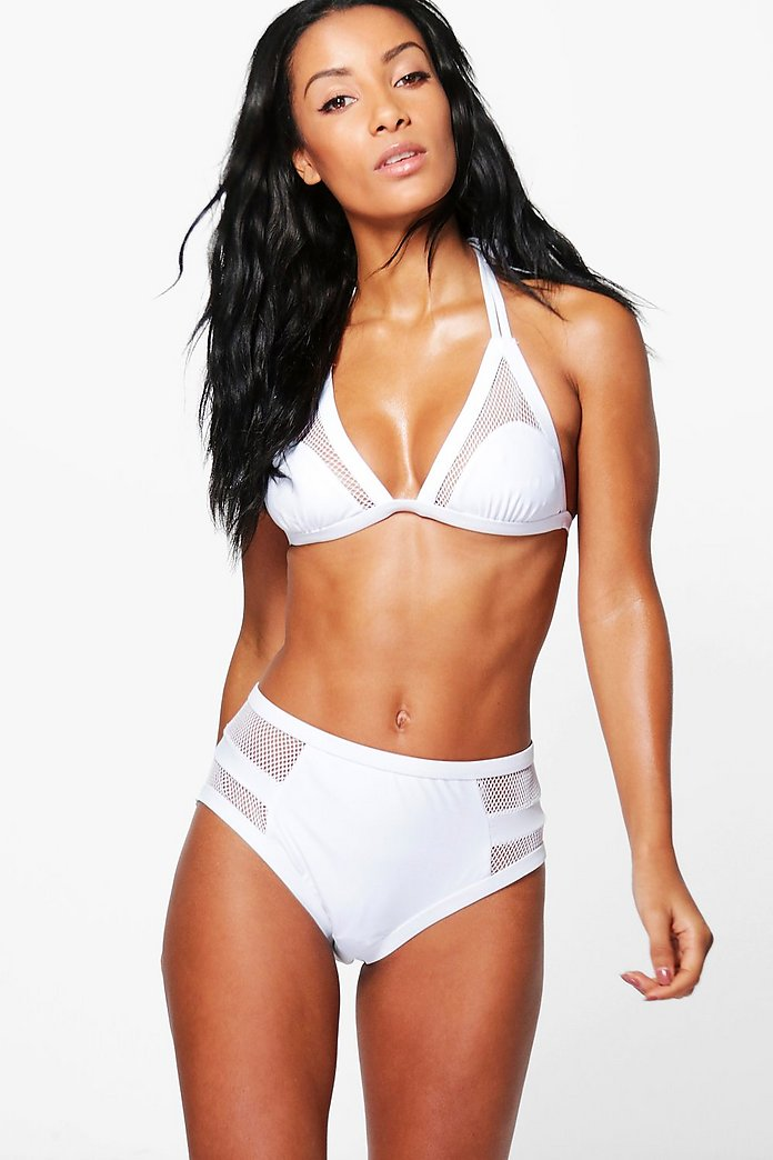 Tobago Mesh Triangle High Waist Bikini