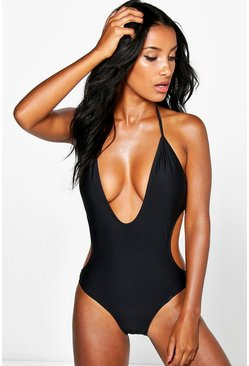 Cambodia Deep Plunge Swimsuit