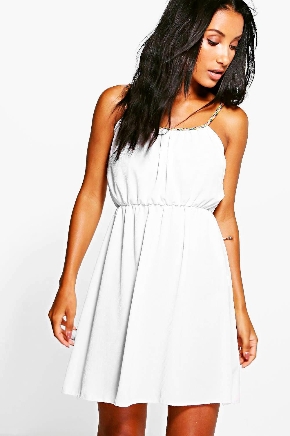 Florence Plait Strap Beach Cover Dress