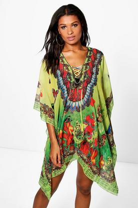 Mia Butterfly Embellished Multi Pack Kaftan