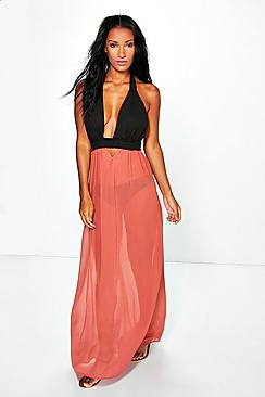 Abigail Tobacco Maxi Dress